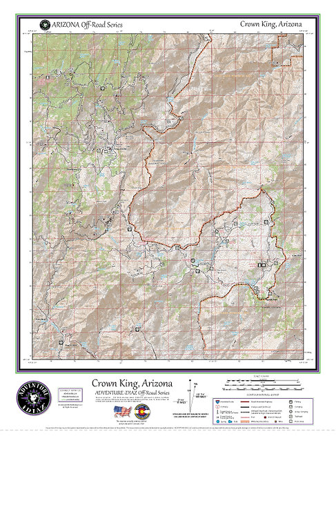 Crown King, Arizona Map / Off-Road Series