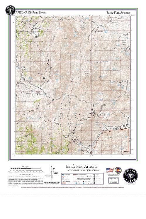 Battle Flat, Arizona Map / Off-Road Series