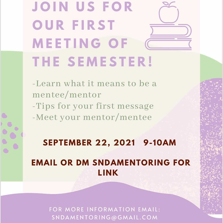 Mentoring Subcommittee First Meeting