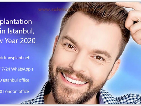 Hair transplantation campaign in Istanbul, Turkey New Year 2020