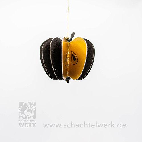 Apfel schwarz/gold