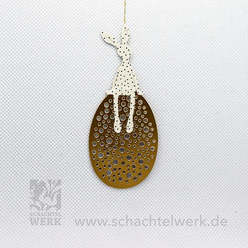 "Eierhocker ""gold/weiß"""