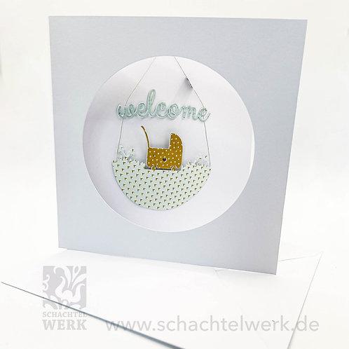 "Grußkarte ""Welcome8"""