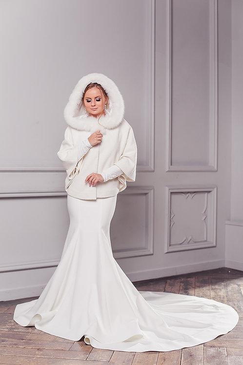 Свадебное пальто Герда короткая