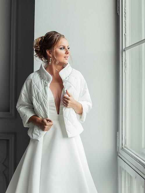 Свадебная курточка Мадина плащевая