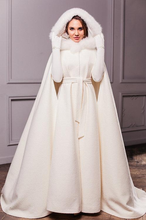 Свадебное пальто Герда длинная