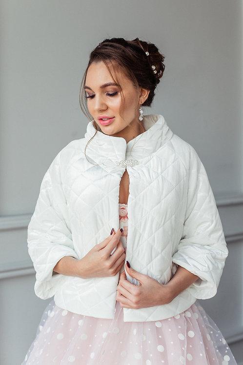 Свадебная курточка Мадина бархатная