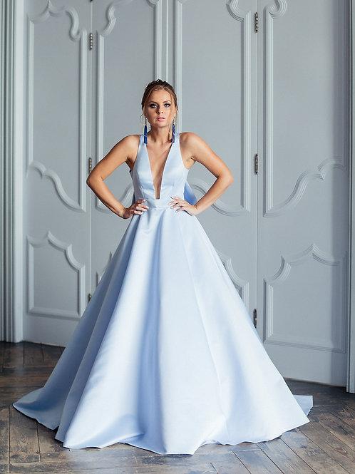 Платье на выпускной Риана blue