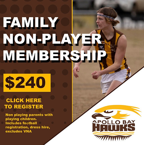 2020 FAMILY NON PLAYING PARENT MEMBERSHIP