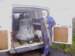 Tenor bell ready for transport