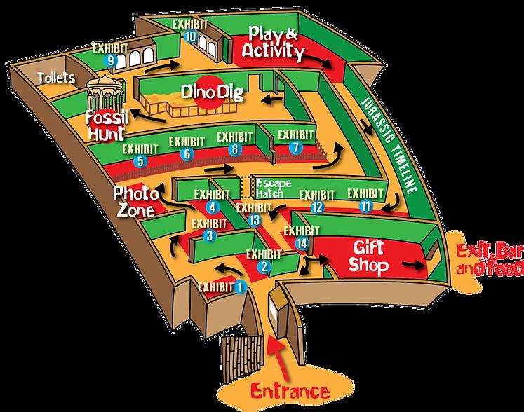 Jurassic Journey Map