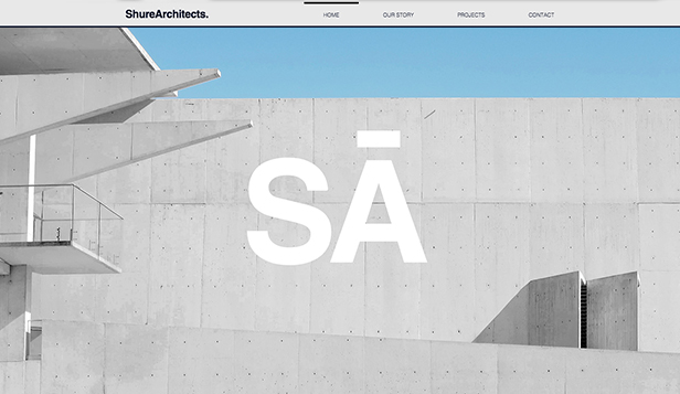 Byrå website templates – Arkitekturfirma