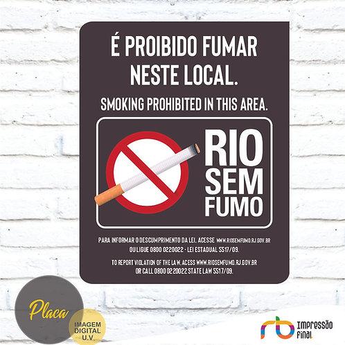Placas Não Fume