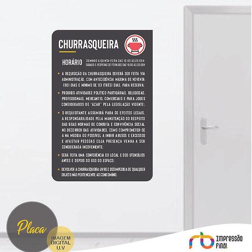 Placas Churrasqueira