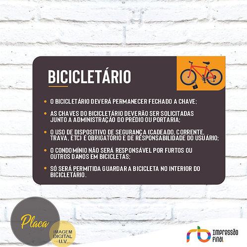 Placas Bicicletário