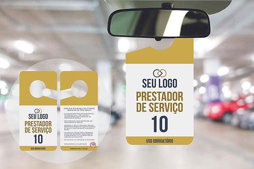Credencial de Estacionamento Prestador de Serviço