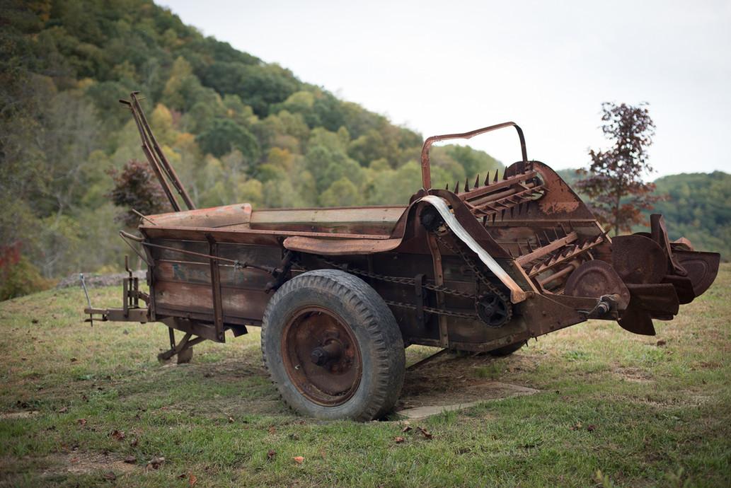 Vintage hay bailer