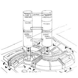 Skyscraper sketch - 1991