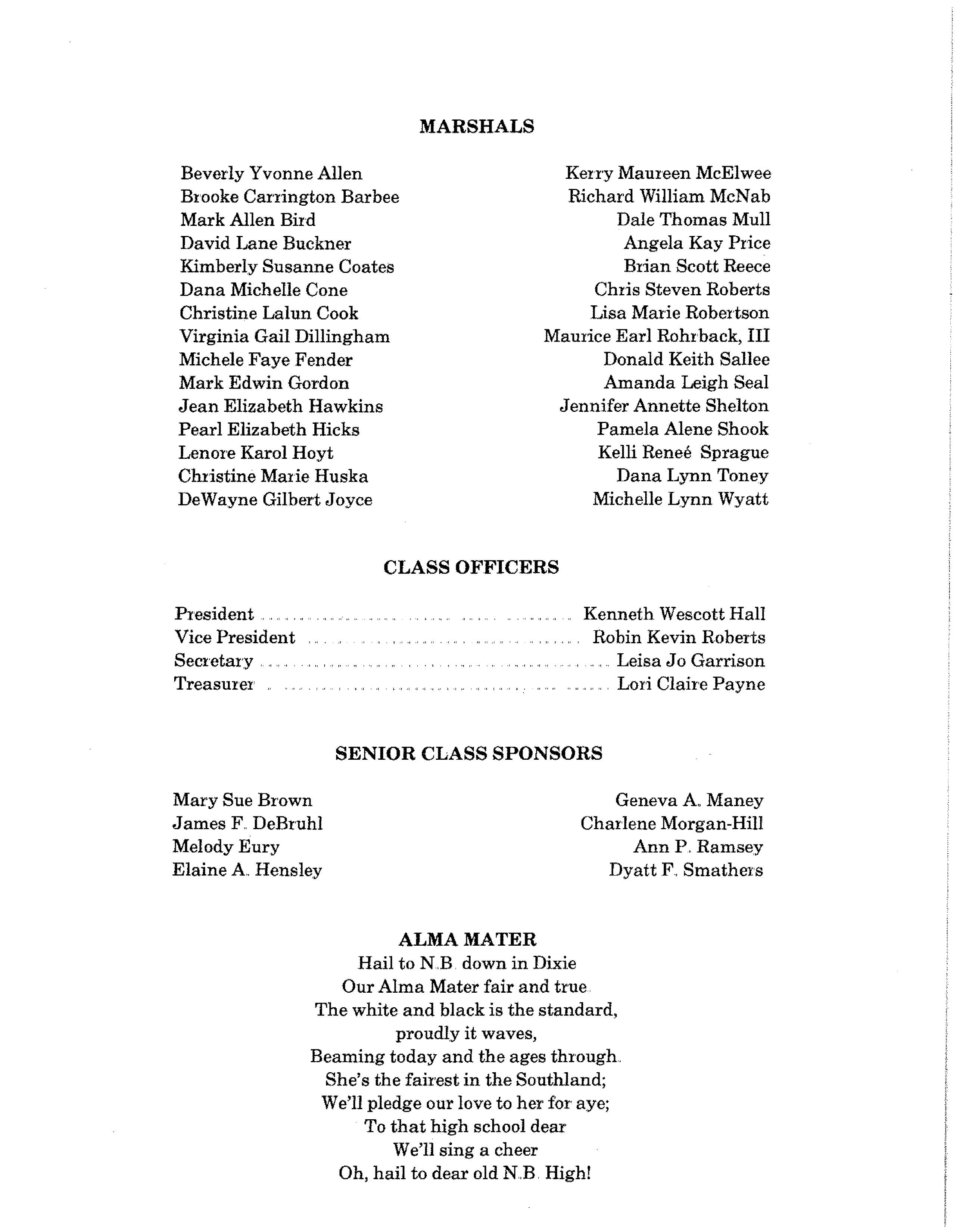 NBHS Class of 87 Comm Program (p4)