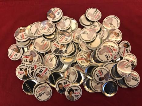 Souvenir buttons ready to go...