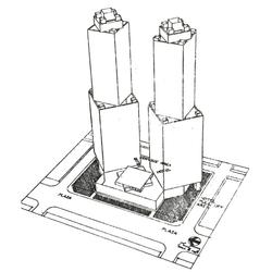 Skyscraper 3D model - 1991