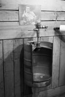 Custom urinal from a keg