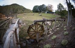 Water wheel and locust bridge