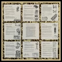 Project Statement -  presentation board. 1990