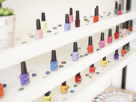 Some CND colors at EVA nails & café