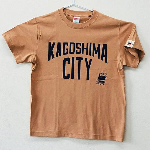 KAGOSHIMACITY(綿Tシャツ) コーラルベージュ