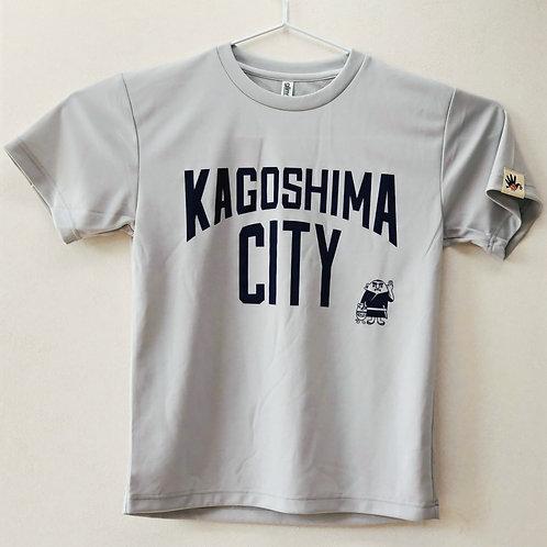 KAGOSHIMACITY(ドライTシャツ) シルバーグレー