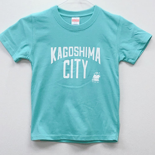 KAGOSHIMACITY(綿Tシャツキッズ)ミント