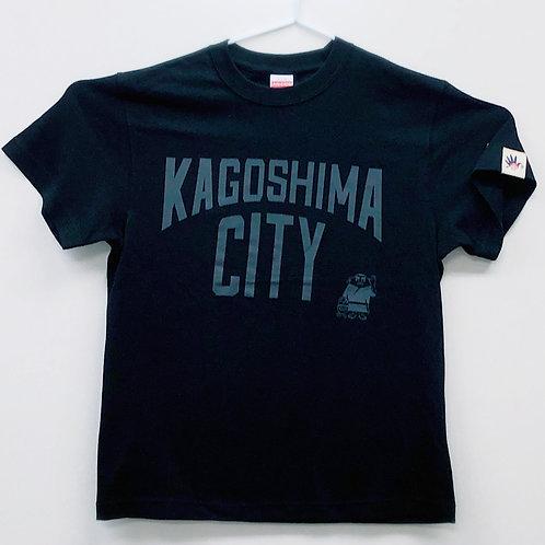KAGOSHIMACITY(綿Tシャツ)ブラック×グレー