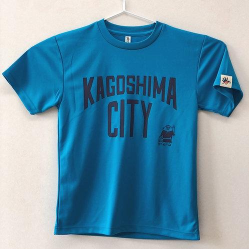 KAGOSHIMACITY(ドライTシャツ) ターコイズ×紺
