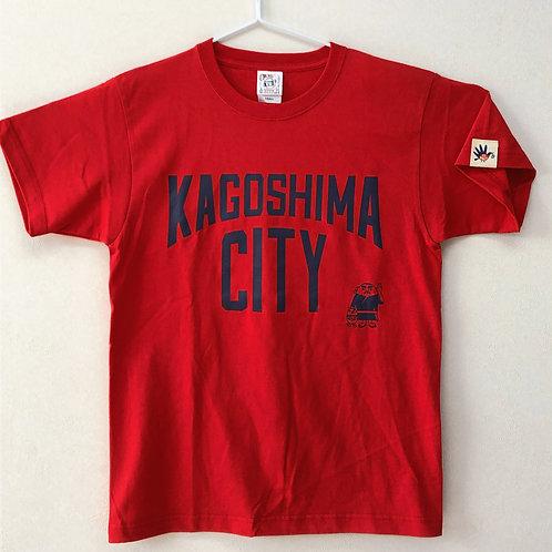 KAGOSHIMACITY(綿Tシャツ) 赤