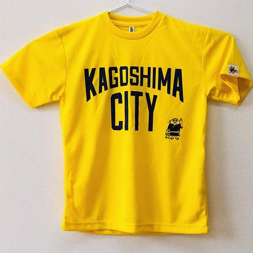 KAGOSHIMACITY(ドライTシャツ) 黄色