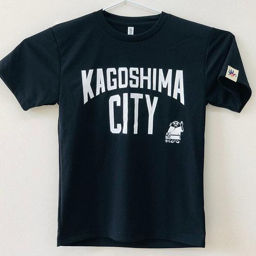 KAGOSHIMACITY(ドライTシャツ) 黒色