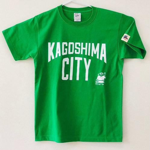 KAGOSHIMACITY(綿Tシャツ) 緑色