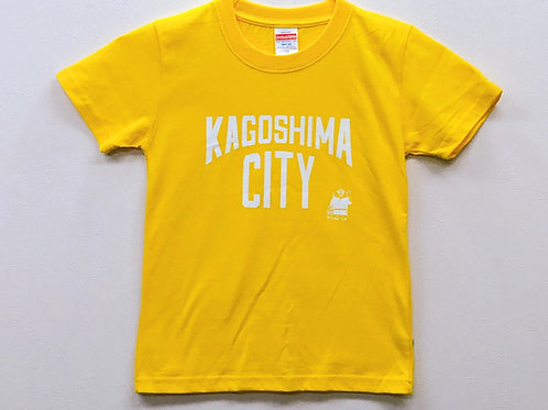 KAGOSHIMACITY(綿Tシャツキッズ)イエロー