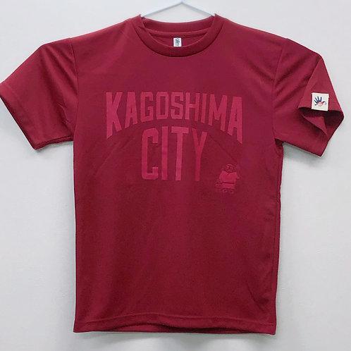 KAGOSHIMACITY(ドライTシャツ)バーガンディ×ワインレッド