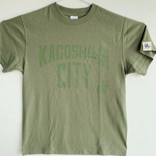 KAGOSHIMACITY(綿Tシャツ)ライトオリーブ×オリーブ