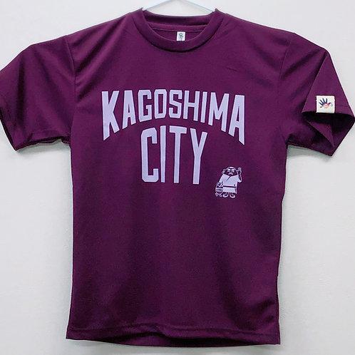 KAGOSHIMACITY(ドライTシャツ)パープル×ライラック
