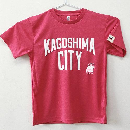 KAGOSHIMACITY(ドライTシャツ) ミックスピンク