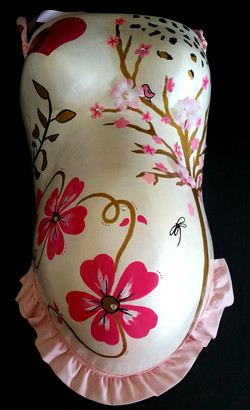 Embellished floral cast