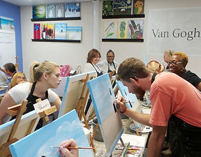 Van Gogh and Vino l Canvas Painting Classes and Parties l