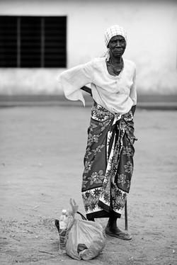 Maungu - lady with cane