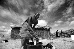 Samburu Girl Washing