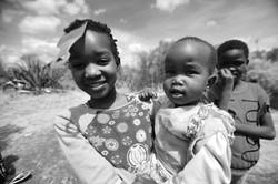 Nbatas Girl, comb, and baby