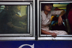 Girl on Bus, Pyay Lan, Yangon