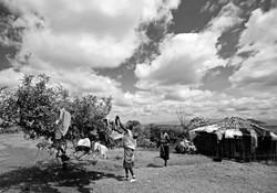 Samburu Women Hanging Out Washing